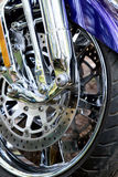 Chrome-motorfiets Royalty-vrije Stock Foto's