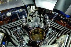 Chrome-motorfietsmotor Stock Afbeeldingen