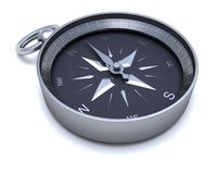 Chrome navigational compass Royalty Free Stock Photo