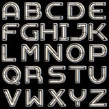 Chrome neon font. This font is made in the style of luminous signs Stock Photography