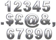 Chrome Numbers Stock Image