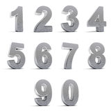 Chrome Numbers Stock Photography