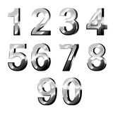 Chrome Numbers in 3d Stock Image