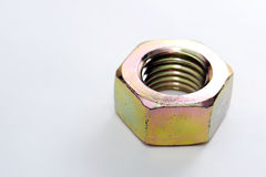 Chrome Nut Stock Image