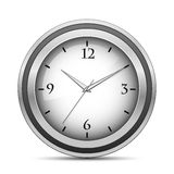 Chrome office clock Stock Images