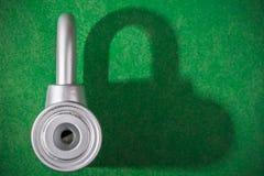 Chrome padlock Stock Photo