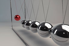 Chrome pendulum Stock Photography