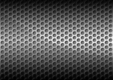 Chrome Perforated Metal Grid Royalty Free Stock Images