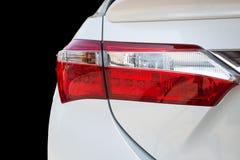Chrome-pijp van witte krachtige sportwagen Stock Fotografie