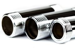 Chrome pipe Royalty Free Stock Photography