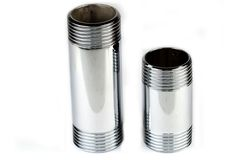 Chrome pipe Stock Images