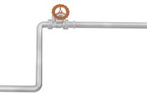 Chrome pipe and valve Royalty Free Stock Photos