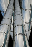 Chrome pipes Royalty Free Stock Image