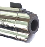Chrome pistol barrel Stock Image