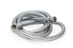 Chrome-plated corrugated hose Royalty Free Stock Photos