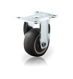 Chrome plated industrial steel caster royalty free stock photo