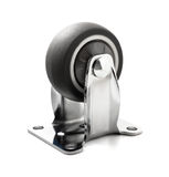 Chrome plated industrial steel caster royalty free stock photography