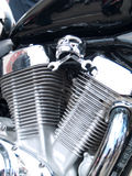 Chrome plated motorcycle engine Stock Photography