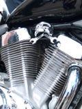 Chrome plated motorcycle engine. Shiny chrome plated motorcycle engine Stock Photography