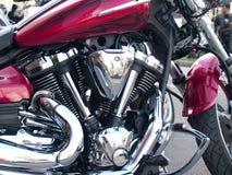 Chrome plated motorcycle engine. Shiny chrome plated motorcycle engine Royalty Free Stock Photography