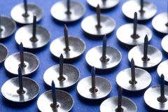 Chrome Push Pins Royalty Free Stock Images