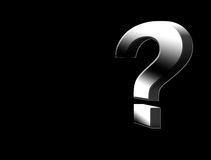 Chrome question Royalty Free Stock Photos