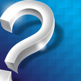 Chrome question mark icon background Royalty Free Stock Photo