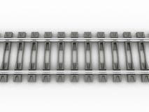 Chrome rails and concrete sleepers №1 Stock Photography