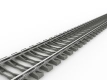 Chrome rails and concrete sleepers №2 Royalty Free Stock Image