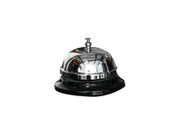 Chrome Reception bell on white Royalty Free Stock Photography