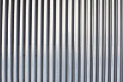 Chrome ribbed metal sheet Stock Photography