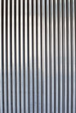 Chrome ribbed metal sheet Royalty Free Stock Photography