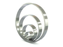 Chrome rings Royalty Free Stock Photo