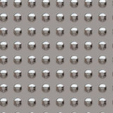 Chrome rivets Stock Images