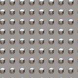 Chrome rivets. Illustration of chrome rivets - seamless tile Stock Images
