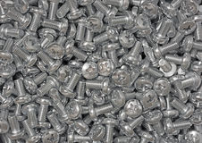 Chrome screws. Royalty Free Stock Image