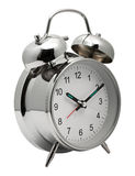 Chrome shiny Alarm Clock Stock Images