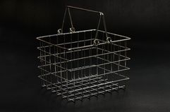 Chrome Shopping Basket & Black Royalty Free Stock Image