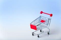 chrome shopping cart Stock Photo