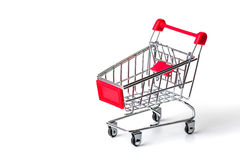 chrome shopping cart Royalty Free Stock Photos
