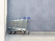 Chrome shopping carts Royalty Free Stock Photos