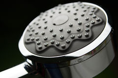 Chrome shower head close up Stock Image