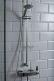 Chrome shower. In luxury bathroom Stock Photos