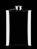 Chrome silhouette hip flask Stock Photography