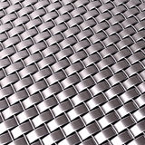 Chrome silver woven metallic pattern Stock Photo
