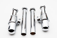 Chrome siphon Stock Photo