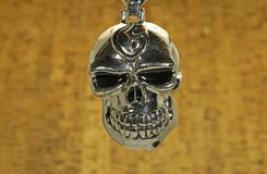Chrome Skull. Photo of a Chrome Skull on a Chain Stock Photography