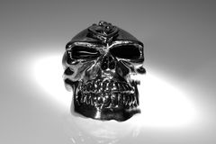 Chrome Skull Royalty Free Stock Photos