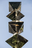 Chrome-Skulptur Lizenzfreie Stockfotos