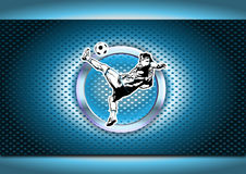 Chrome soccer poster background Stock Images